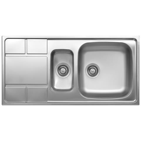 ARGONAUTA - Lavello Cucina Vasca Con Vaschetta A Sinistra Acciaio Da ...