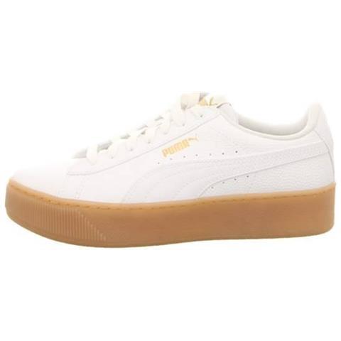 21c7d5e2ec0d Puma - Vikky Platform Vt Sneakers Scarpe Donna Pelle Bianco Bianco 37 -  ePRICE