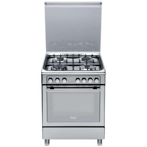 HOTPOINT - Cucina Elettrica CX65S7D2 IT (X) / HA H 4 Fuochi a Gas ...