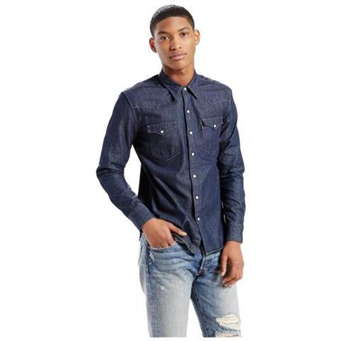 reputable site 69b37 df844 Levi's Barstow Western Red Cast Rinse Camicia Di Jeans Taglia Xs