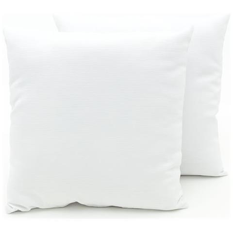 a6869133ce BIANCHERIA WEB Coppia Cuscini Arredo Imbottiti Tessuto Ottoman In Tinta  Unita Colore Bianco 25 50x50 Bianco 25