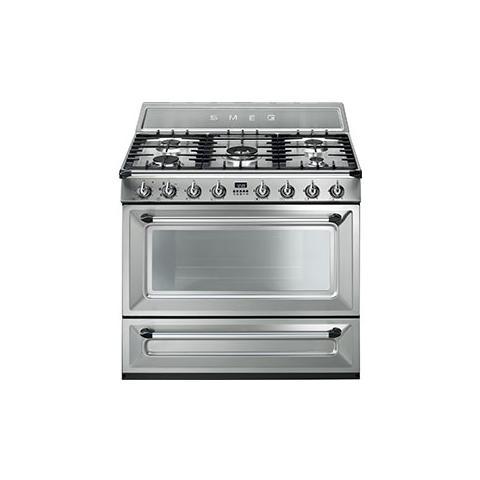 SMEG - Cucina Elettrica TRI90X1 con 5 Zone Cottura a Gas e Forno ...