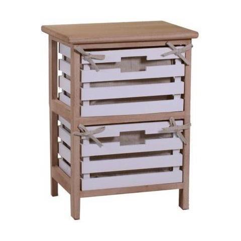 Vacchetti Mobiletto Arianna in legno con 2 cassetti