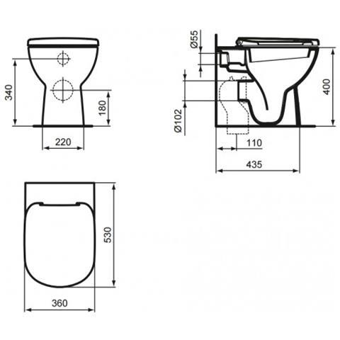 Ceramica Dolomite Schede Tecniche.Ceramica Dolomite Wc A Pavimento Btw Serie Gemma 2 J523101