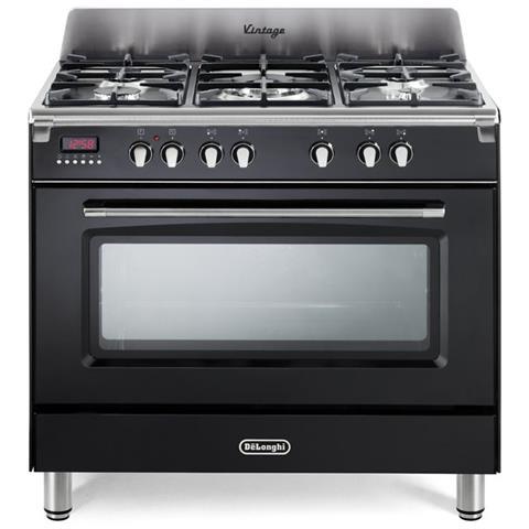 DE LONGHI - Cucina Elettrica MEM 965 NX 5 Fuochi a Gas Forno ...