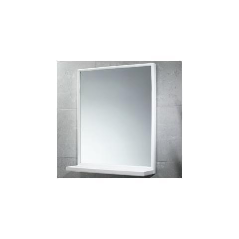 Gedy - Specchio Rettangolare Cm 45x60 Con Mensola Plastica Bianco ...