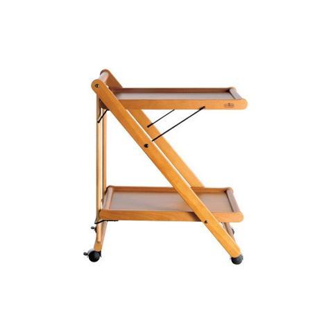 Beautiful valsecchi clic clac design dario tanfoglio carrello in legno faggio colore ciliegio - Carrello porta abiti ikea ...