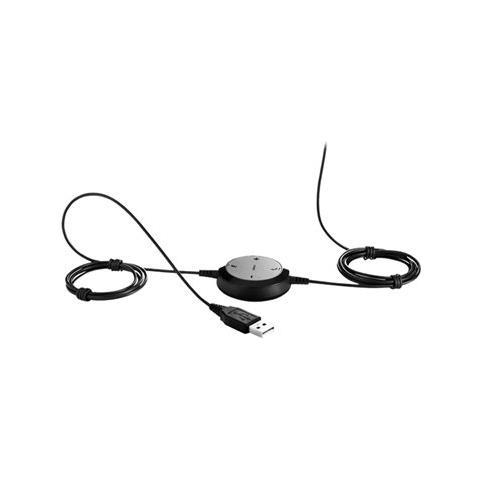 Evolve 30 II MS Stereo, Stereofonico, 3.5mm / USB, Padiglione auricolare, Nero, Cablato, Sovraurale