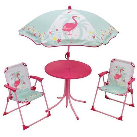 Mobili Da Giardino Per Bambini.Fun House 713088 Rosa Fiamma Mobili Da Giardino Con Un Tavolo 2 Sedie Pieghevoli E Un Ombrellone Per Bambini Eprice
