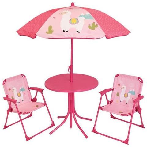 Mobili Da Giardino Per Bambini.Fun House 713141 Lola Lama Mobili Da Giardino Con Un Tavolo 2 Sedie Pieghevoli E Un Ombrellone Per Bambini Eprice