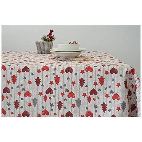 113881a0cf Cieffepi Home Collections Natale - Tovaglia Natalizia Vipiteno (x6 Persone)  Cm 140x180