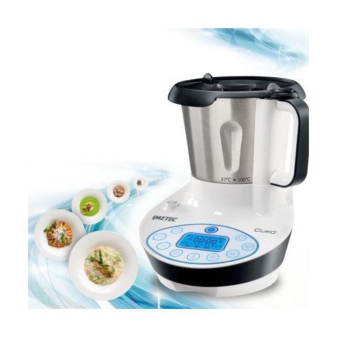 IMETEC Cukò Robot da cucina multifunzione con cottura. Multicooker con 3  programmi automatici per risotti, pasta e vellutate, 10 Funzioni, potenza  570 ...