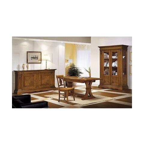Estea Mobili Sala Soggiorno Intarsiata Legno Massello