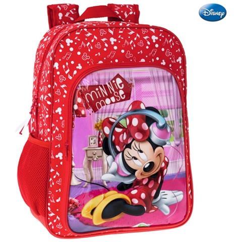 04bfcaa5da TrAdE shop Traesio® Zaino Americano Scuola Elementare Media Zainetto  30x40x16 Cm Disney Minnie Mouse