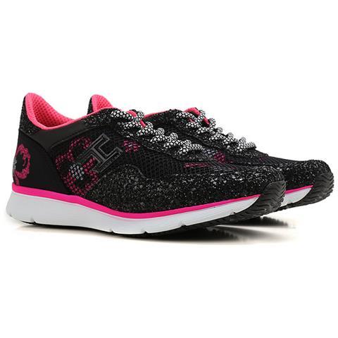 HOGAN Scarpe Sneakers Donna Hogan Hxw2540x300ejkb999 H254 Pelle Originale Pe New Taglia 37 Colore Nero