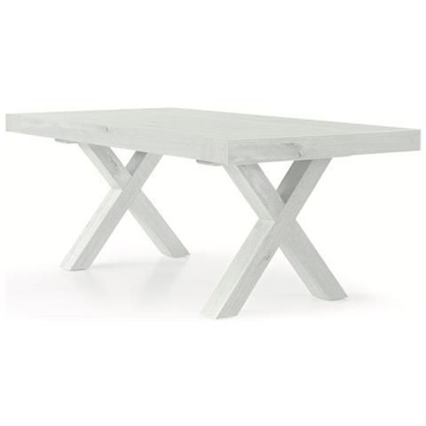 Tavolo 100 X 70 Allungabile.Fashion Commerce Tavolo Allungabile Bianco Consumato 180 100 Cm