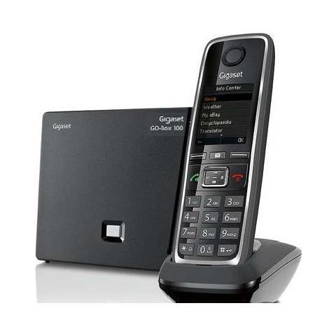 Amplificatore Telefono Cordless Gigaset C530A Go Dect con Voip con Segreteria Nero