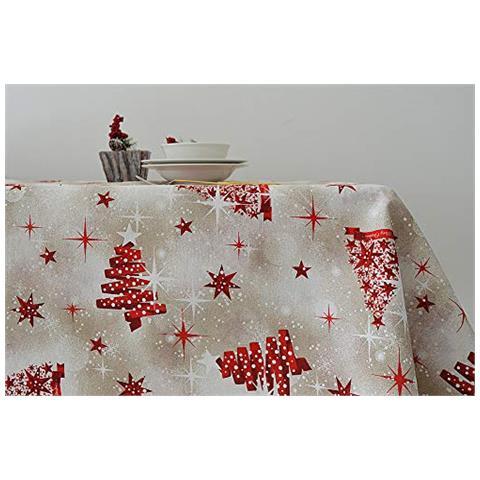 23cb49bcf4 Cieffepi Home Collections Natale - Tovaglia Natalizia Tivoli (x6 Persone)  Cm 140x180