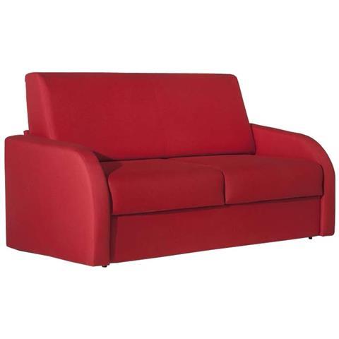 ARGONAUTA Divano Letto 3 Posti In Tessuto Rosso Sfoderabile 186x95xh. 92 Cm