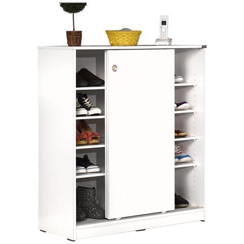 Mobili Da Cucina Con Ante Scorrevoli.Argonauta Mobile Scarpiera Multiuso Bianco 2 Ante Scorrevoli Cm