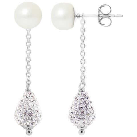 6c19392224e1ea Blue Pearls - Orecchini Argento 925, Perle Bianche Coltivate E Cristallo  Bianco - Bps K366 W - ePRICE