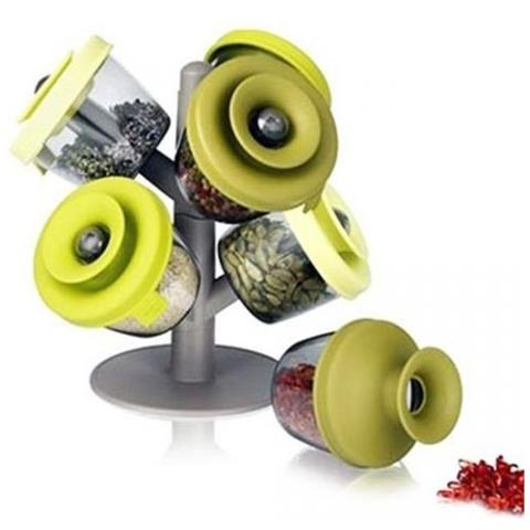 Spices Tree - Portaspezie 6 barattoli cucina design moderno ed ...