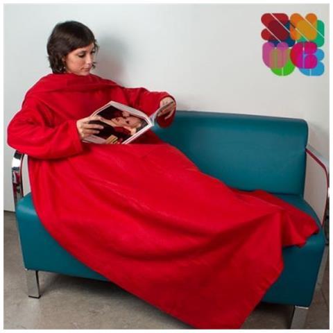 Plaid Con Maniche Dove Trovarlo.Snug Snug Kangoo Coperta Con Maniche Colore Rosso Snuggie Pled Plaid Pile Unisex Inverno