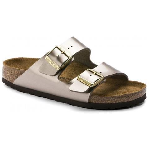 Vyfyb7g6 Birkenstock Taupe Sandalo Birkoflor 38 Metal Arizona Donna Eur BrtsQCxhd