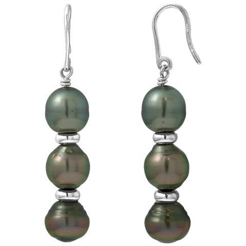 4fbb11d44cb878 Blue Pearls - Orecchini Di 3 Perle Di Tahiti Nere E Argento 925/1000 - Bps  K380 W - ePRICE