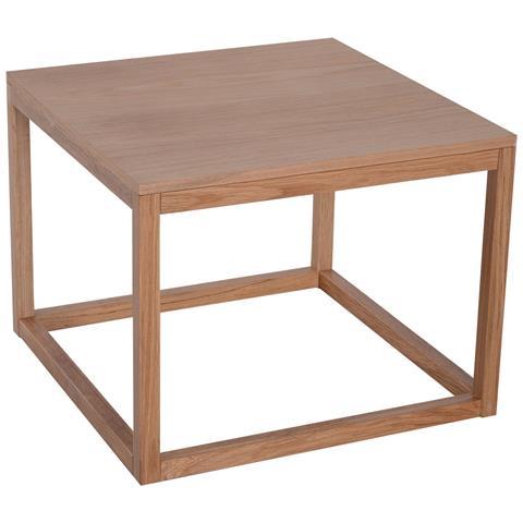 HOMCOM Tavolino Da Caffè Quadrato Da Salotto Legno 60x60x45cm