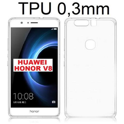 Cover per Huawei P8 LITE custodia ultra slim in silicone 03 MM Nero Trasparente