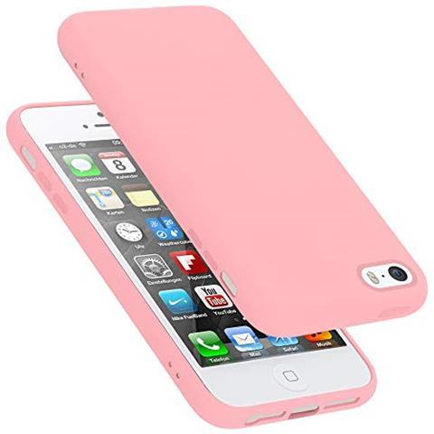 CADORABO Custodia Per Apple Iphone 5 In Liquid Rosa - Morbida Cover Protettiva Sottile Di Silicone Tpu Con Bordo Protezione - Ultra Slim Case Antiurto ...