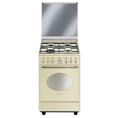 SMEG - Cucina Elettrica CO68GMP9 4 Fuochi a Gas Forno Elettrico ...