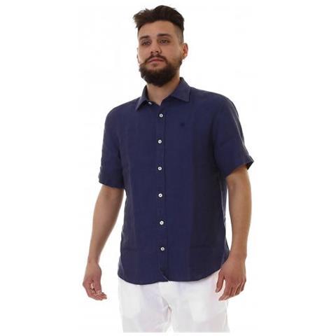 3ea811a541 NORTH SAILS Shirt Lino Camicia Manica Corta Uomo Taglia 3xl
