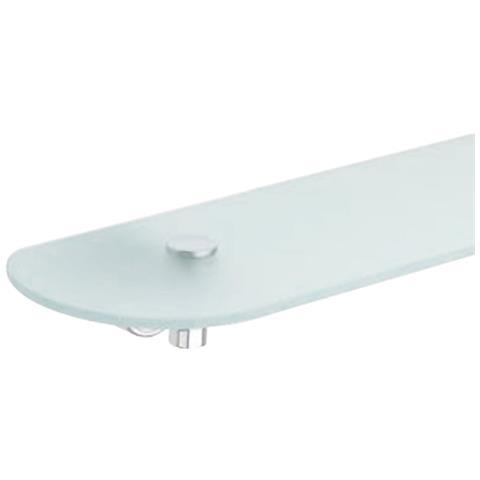Mensole In Vetro Bianco.Metaform Mensola Serie Enjoy In Vetro Sabbiato Profili Laccato