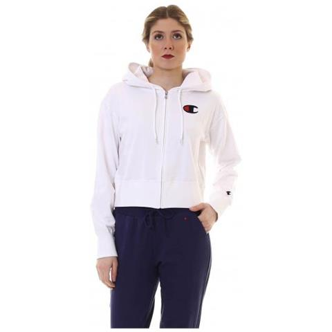 best service 82b33 95242 CHAMPION Felpa New Combed Cotton Terry Con Cappuccio Donna Taglia L
