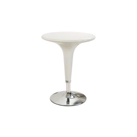 Tavolo Bar Bianco.Serena Group Tavolo Bar O60cm In Abs E Acciaio H72 92cm Bianco