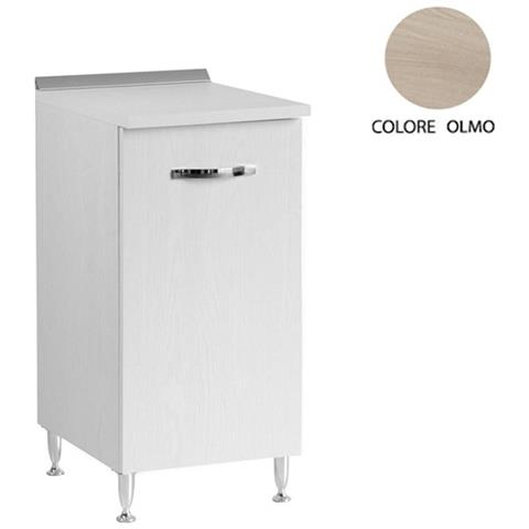 ARGONAUTA Mobile Base Per Cucina Bianco-olmo 1 Anta Cm 30x50xh 85