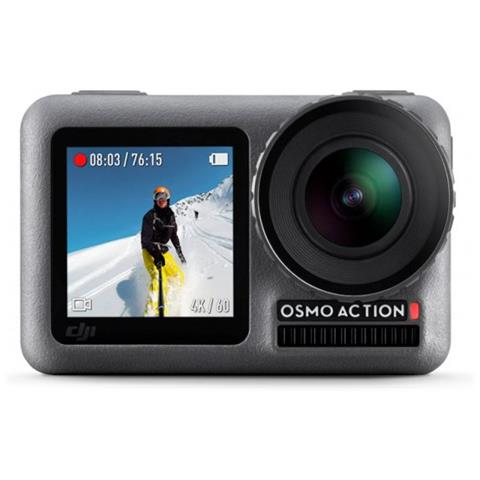 Action Cam Osmo Action Sensore CMOS 12 Mpx Video 4K HDR Wi-Fi Impermeabile Colore Antracite