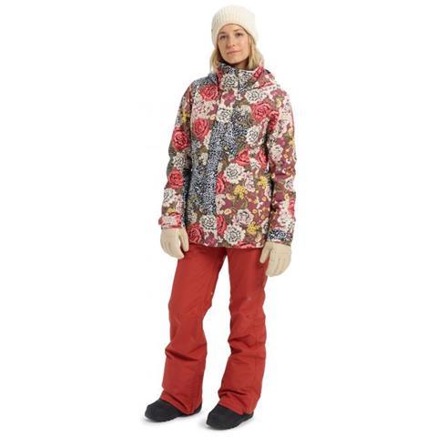 BURTON Jet Set Jkt Cheetah Floral Giacca Snowboard Donna Taglia Xs
