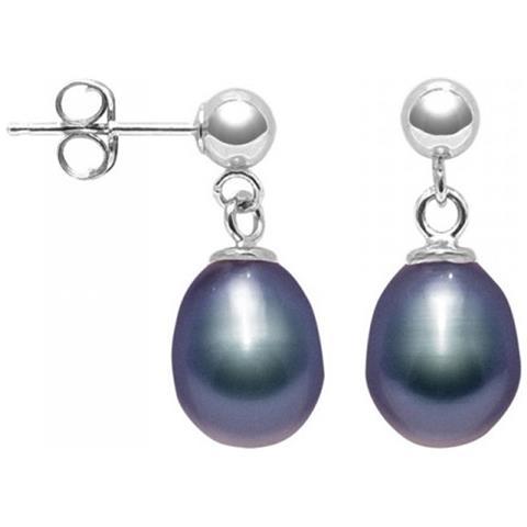 569da6a4d6e842 Blue Pearls - Orecchini Di Perle Coltivate D'acqua Dolce Nera E 925 Argento  - Bps K328 W Noir - ePRICE