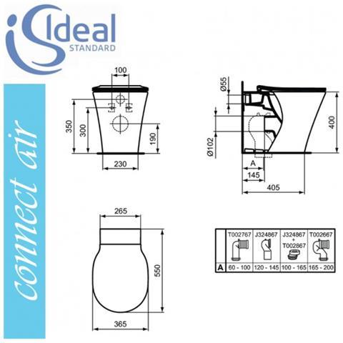 ideal standard connect air e004901 aquablade wc filo parete e sedile eprice. Black Bedroom Furniture Sets. Home Design Ideas