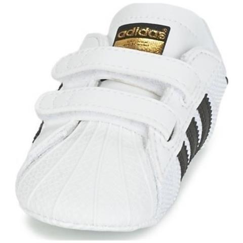 Adidas Superstar Crib Scarpe Sportive Culla Bianche Nere 19