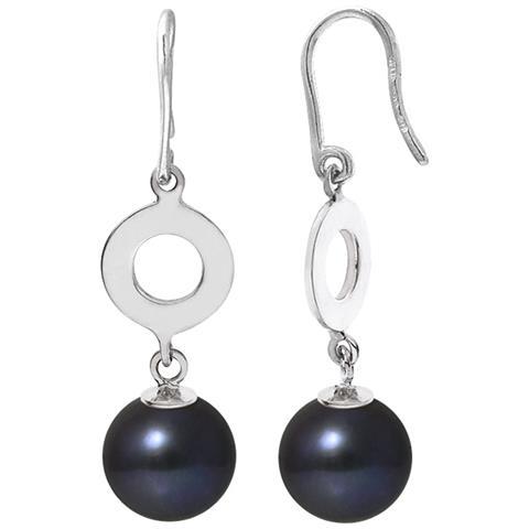 fdb6daaebb45c8 Blue Pearls Orecchini Perle Coltivate Nere E Argento 925/1000 - Bps K345 W  Noir