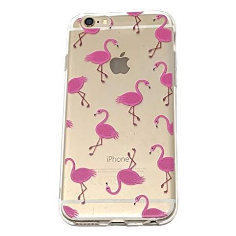 LaLe Living Cover Per Apple Iphone 6/6s, Motivo Fenicotteri