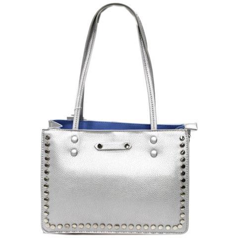 03603e034e Lookat - Borsa Donna Linea Borchie Modello Shopping Piccola Y1372 Silver -  ePRICE