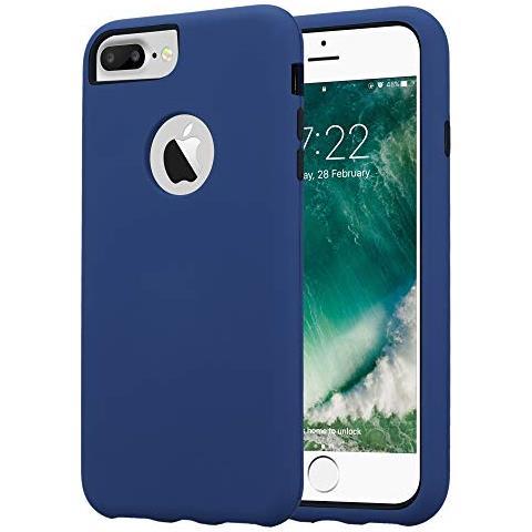 Cadorabo Custodia Per Apple Iphone 7 Plus / 7s Plus / 8 Plus In Blu Scuro - Hybrid Cover Con Lato Interno Silicone Tpu E Lato Esterno Plastico A Due ...