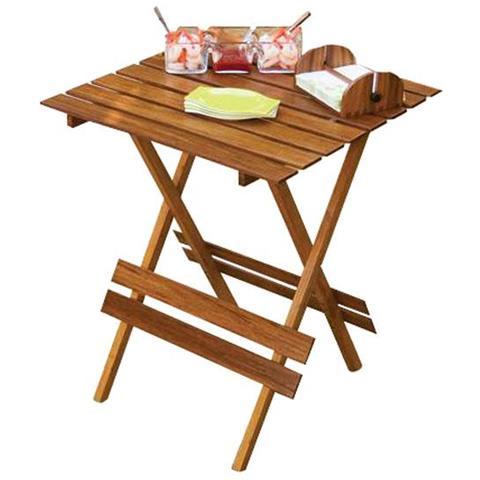 Tavolo Pieghevole In Legno.Mk Tavolino Pieghevole In Legno Di Bamboo Per Interno Esterno Mk