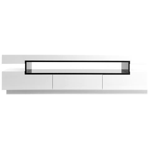 Mobili Porta Tv Design.Miliboo Mobile Porta Tv Design Laccato Bianco Livo