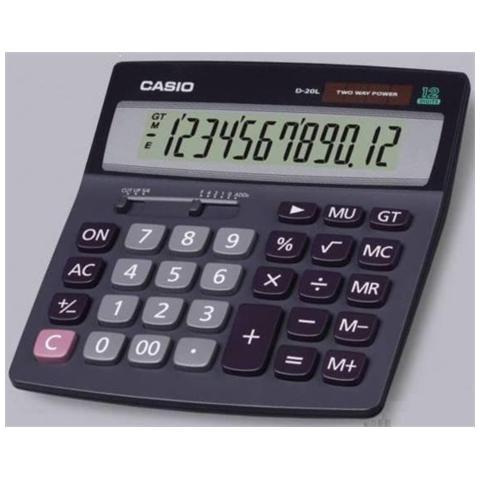 PZ.1 - CALCOLATRICE DA TAVOLO DH-12BK 12cifre CASIO 4971850091325 DH-12BK OFF_72196